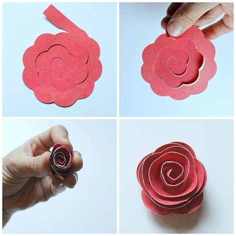 rolled paper flower pattern rolled paper flower shadowbox housewarming gifts cricut