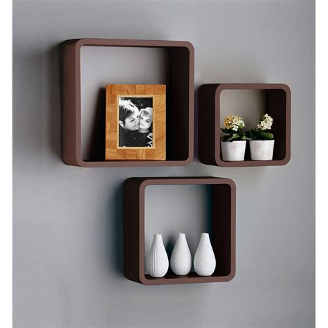 brown wall cube shelves 163 29 99 with free delivery