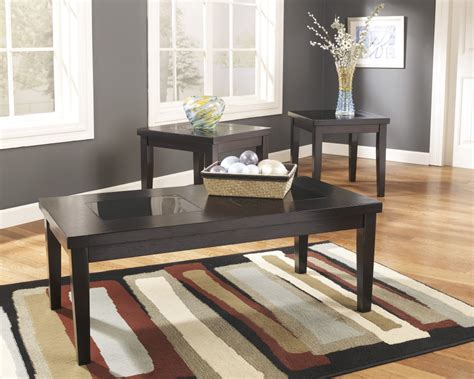 three piece living room table set denja occasional table set set of 3 t281 13 three