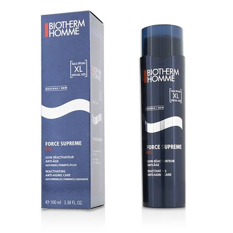 biotherm homme supreme homme supreme total reactivator anti aging gel care