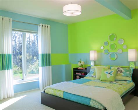 and green color combination bedroom paint color shade ideas blue and green bedroom