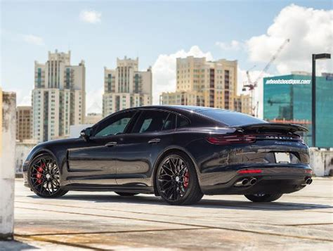 2018 black porsche panamera back in black 2018 porsche panamera turbo gets stunning