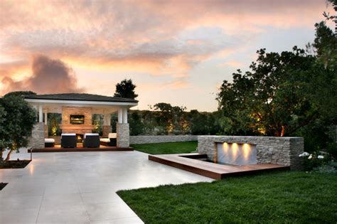 contemporary backyard landscaping ideas outdoor living areas contemporary patio orange