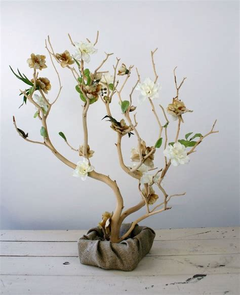 tree wedding centerpieces manzanita wood branches decoration style exchange the burlap for something more elegant wedding