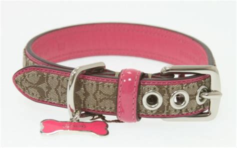 coach collars coach brown monogram pink patent leather collar new ebay