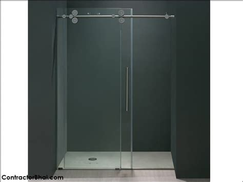 shower glass sliding doors frameless sliding glass doors