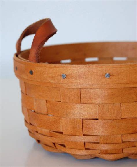 longaberger baskets vintage longaberger basket 1993 button basket