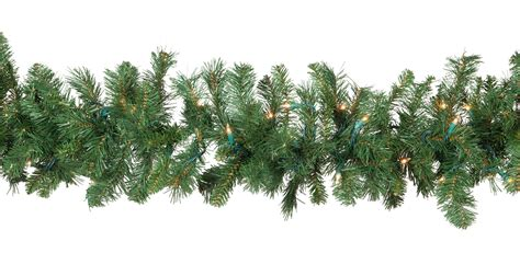sears outdoor lighted christmas garland lighted garland cumberland fir prelit garland clear lights