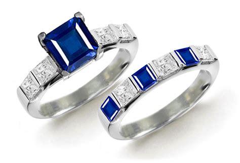 designer colored gemstone engagement rings wedding rings sets