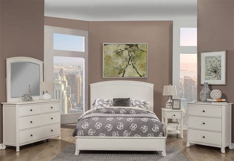 baker white panel bedroom set 977 w 01q alpine