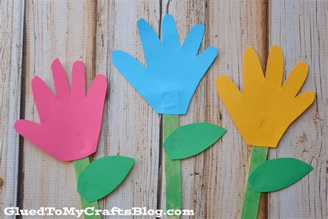 popsicle crafts popsicle stick handprint flowers