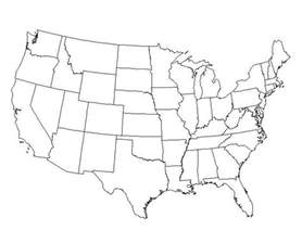 us map with blank state names a blank usa map with states