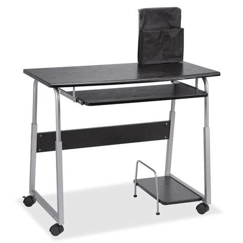 silver and black computer desk black and silver computer desk