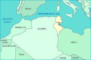Tunisia On World Map by Tunisia Map Map Travel Holiday Vacations