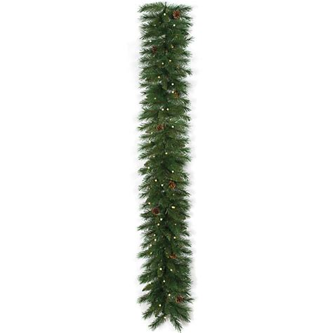 6 foot mixed pine garland led lights battery operated