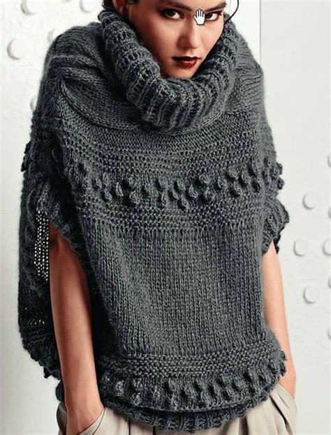 poncho para ni a en crochet y agujas circulares tricot m 225 s de 10 ideas fant 225 sticas sobre tejidos a dos agujas en