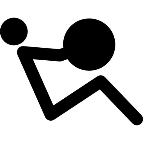 Stick Dumbell stick side view weightlifting icons free