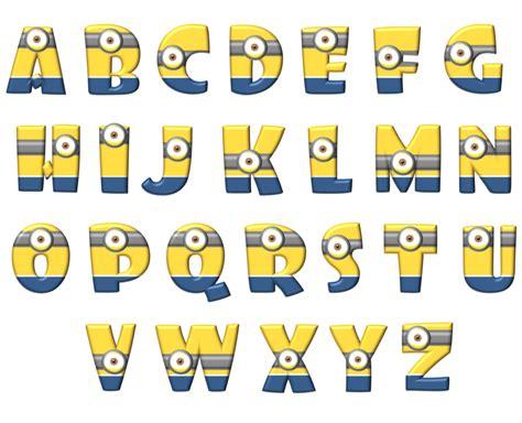 printable minion letters aporte letras de minions minions fiesta gogo