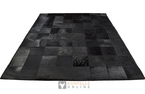 teppich 160 x 200 cowhide rug black 200 x 160 cm kuhfelleonline nomad