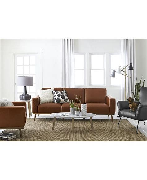 Macys Couches by Furniture Marsilla Leather Sofa Collection Created For