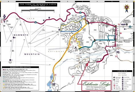 california map mammoth lakes maps of the mammoth lakes area southern mono county
