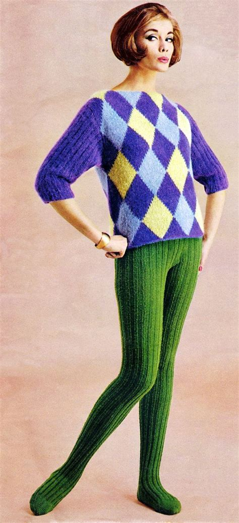 pattern knit tights vintage knitting pattern ribbed tights 1960s hand knit