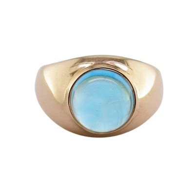 Luxury Rose Gold Blue Topaz Bubble Ring   London Road