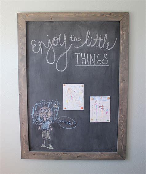 diy chalkboard frame diy framed chalkboard domestically speaking