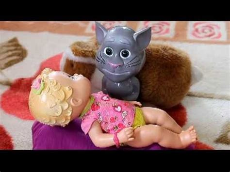 talking tom doll baby alive doll and talking tom singing a lullaby baby