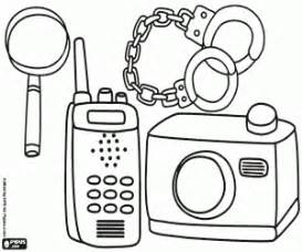 police investigation coloring printable game