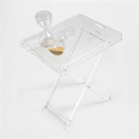 acrylic butler tray table acrylic clear tray table