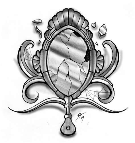 mirror tattoo design broken mirror by e nigmadesign on deviantart