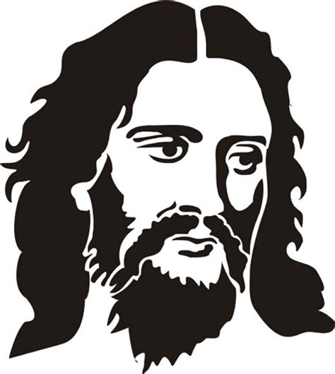 jesus figure stencil design from stencil kingdom
