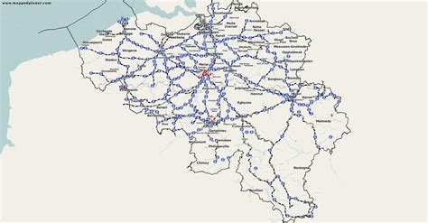 belgium rail map thematic maps and city maps rail