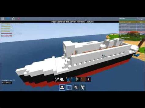 how to build a boat deck roblox build titanic i build a boat and sail game i boat