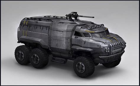 future military jeep artstation sunderer sam brown concept art vehicles
