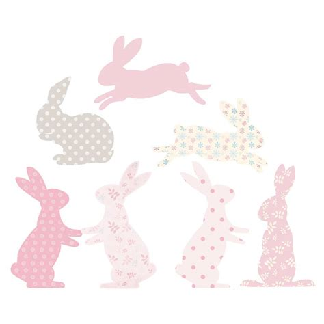 rabbit wall stickers rabbit fabric wall stickers by littleprints