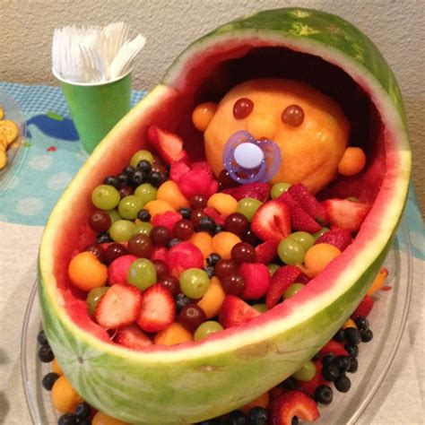 Baby Shower Watermelon by New Baby Watermelon Server Baby Shower Food Lookin Pintere