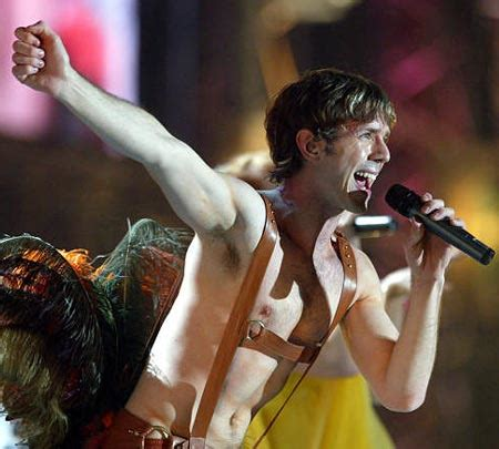 Scissor Do The Brit Awards by Jake Shears Of The U S Band The Scissor Performs