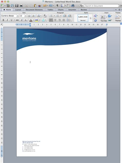 letterhead design for matthew rowe by glow creative