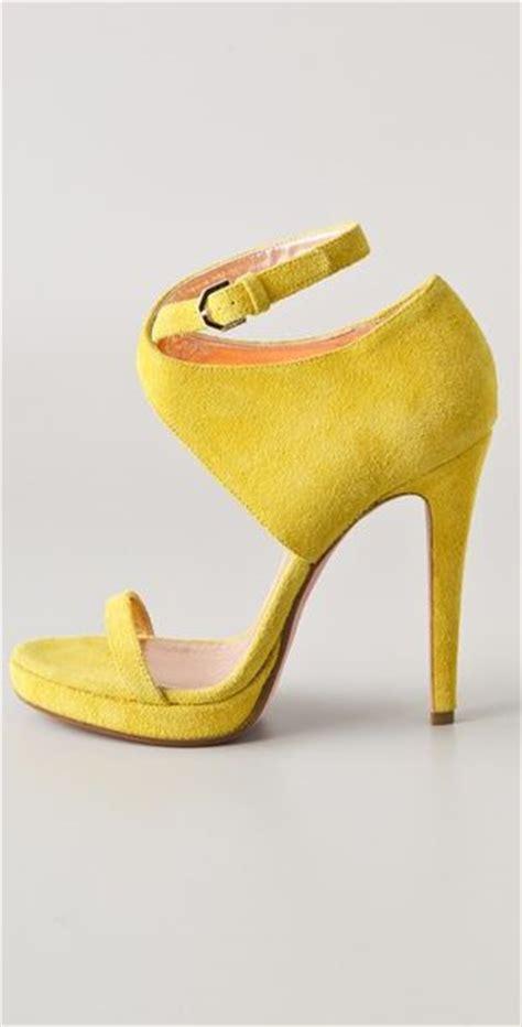 yellow high heels sandals viktor rolf suede high heel sandals in yellow lyst