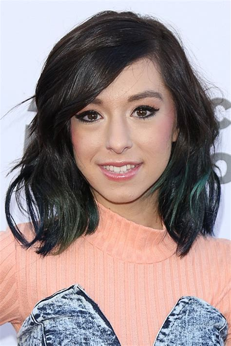 christina grimmie hairstyle pictures christina grimmie wavy dark brown bob peek a boo