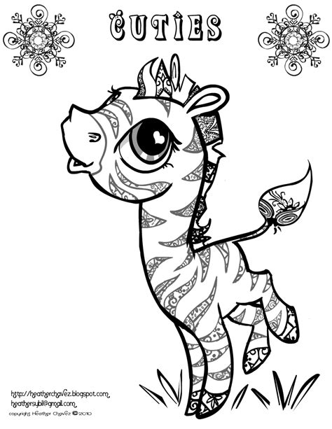 Creative Cuties Free Zeabra Coloring Page Coloringpages Cuties