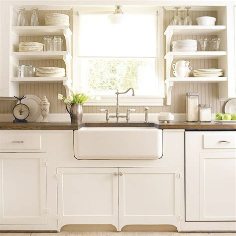 Sink White Kitchen Modern Interiors Country Style Home Kitchen