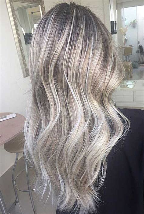 silver hair with blonde highlights bleached pictures of nice blonde hair pinteres