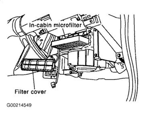 cabin air filter location likewise nissan altima cabin