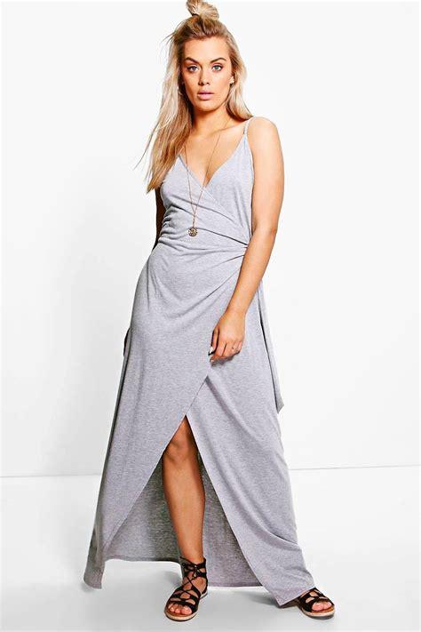 Dress Lenka plus lenka wrap front maxi dress at boohoo