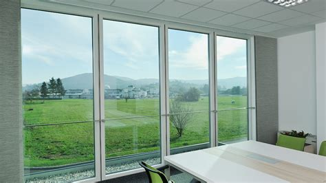 curtain wall glass q air trimo