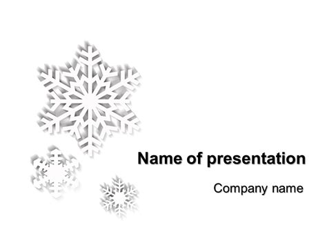 Powerpoint Templates And Backgrounds Microsoft Powerpoint Templates Snowflakes