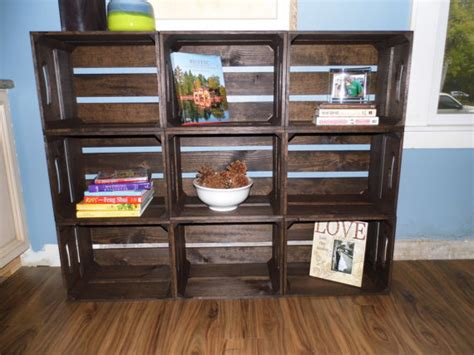 items similar to 9 pc contemporary wooden crate bookshelf